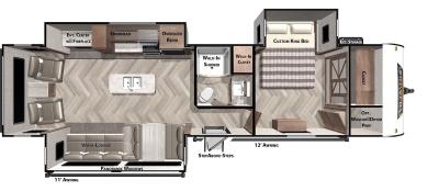 Wildwood 32RET Floor Plan - 2021