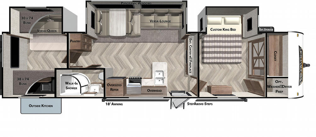 Wildwood 33TS Floor Plan - 2021