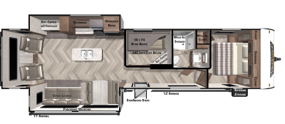 Wildwood 34MBS Floor Plan - 2021