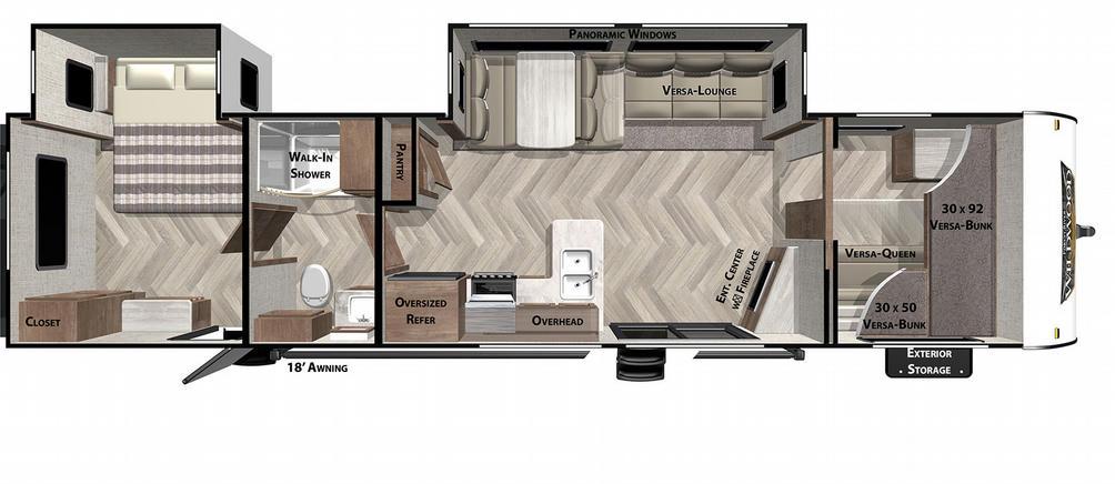 Wildwood 36VBDS Floor Plan - 2021