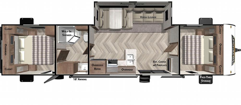 Wildwood 37BHSS2Q Floor Plan - 2021