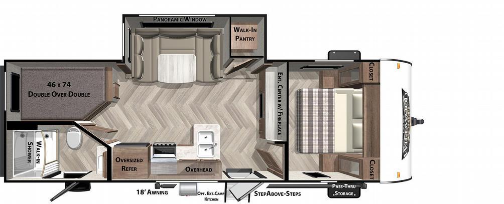 Wildwood X-Lite 240BHXL Floor Plan - 2021