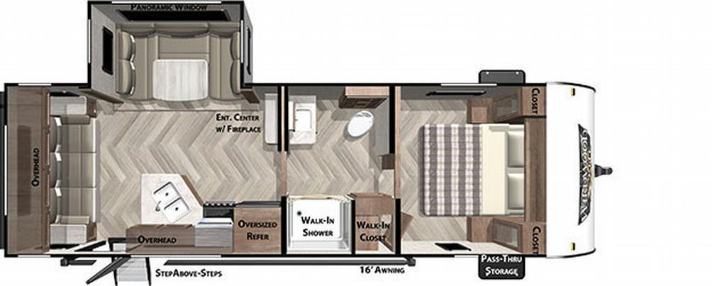 Wildwood X-Lite 24RLXL Floor Plan - 2021