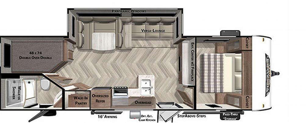 Wildwood X-Lite 263BHXL Floor Plan - 2021