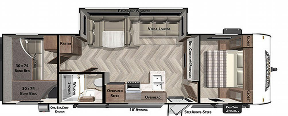 Wildwood X-Lite 273QBXL Floor Plan - 2021