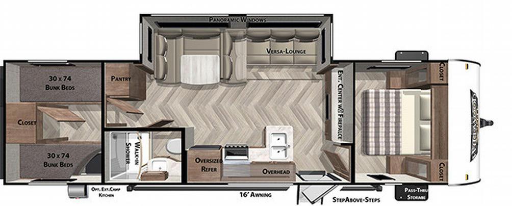 Wildwood X-Lite 282QBXL Floor Plan - 2021