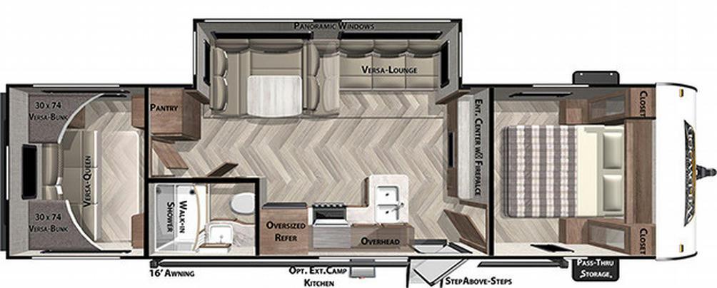 Wildwood X-Lite 28VBXL Floor Plan - 2021