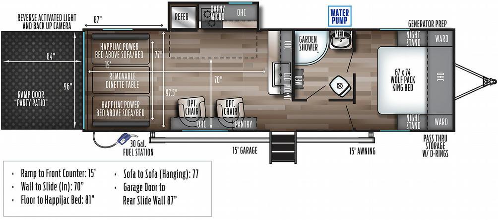 Wolf Pack 23PACK15 Floor Plan - 2021