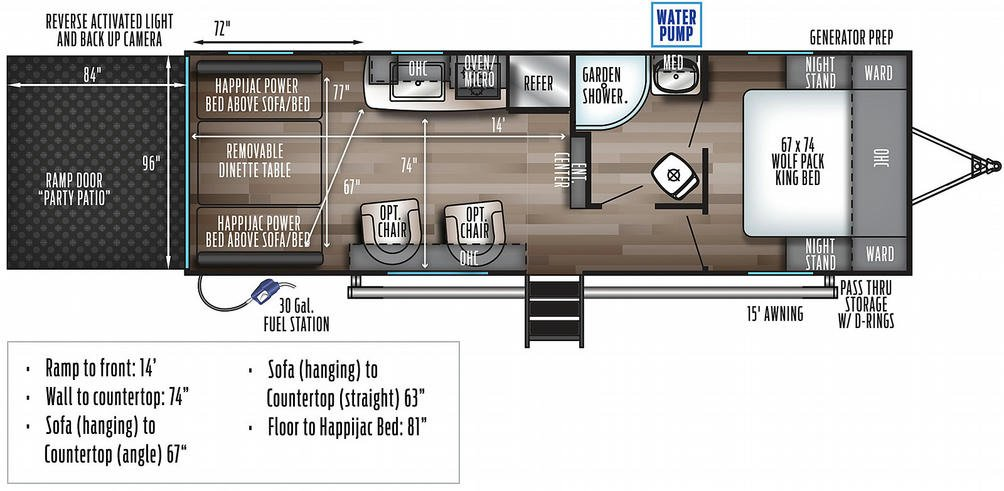 Wolf Pack 24PACK14+ Floor Plan - 2021