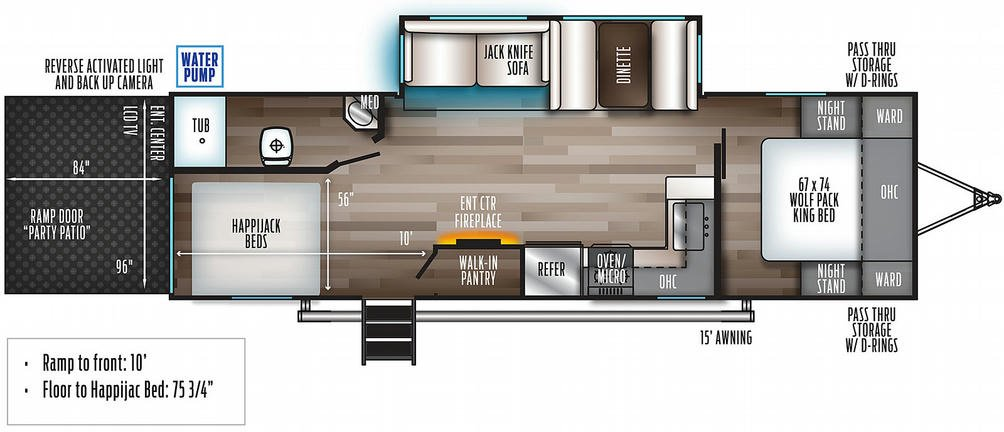 Wolf Pack 27PACK10 Floor Plan - 2021