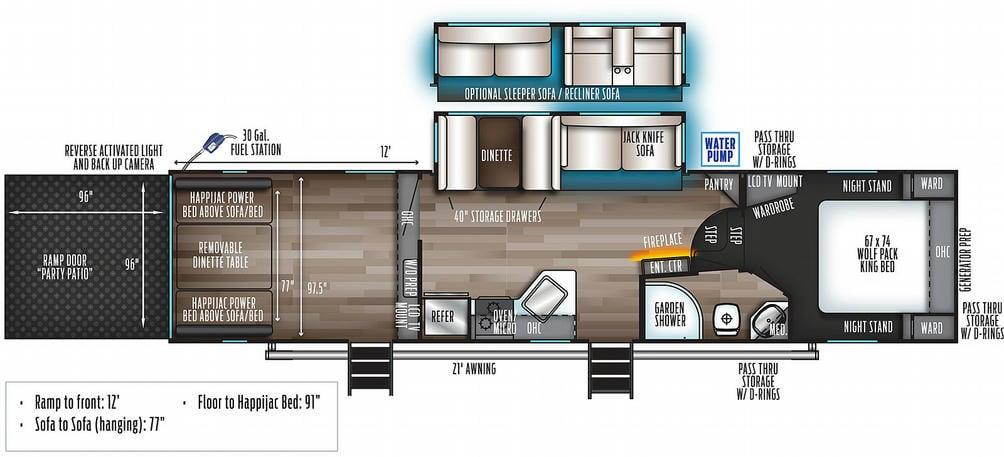 Wolf Pack 315PACK12 Floor Plan - 2021