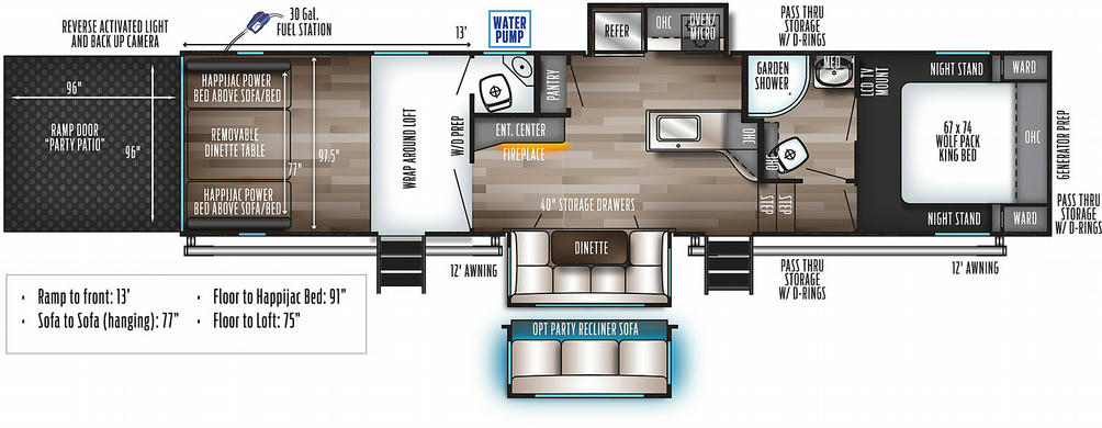 Wolf Pack 325PACK13 Floor Plan - 2021