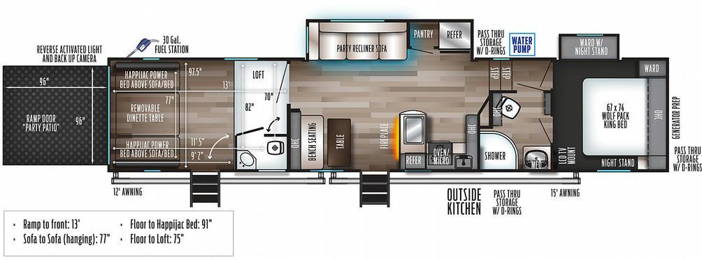 Wolf Pack 335PACK13 Floor Plan - 2021