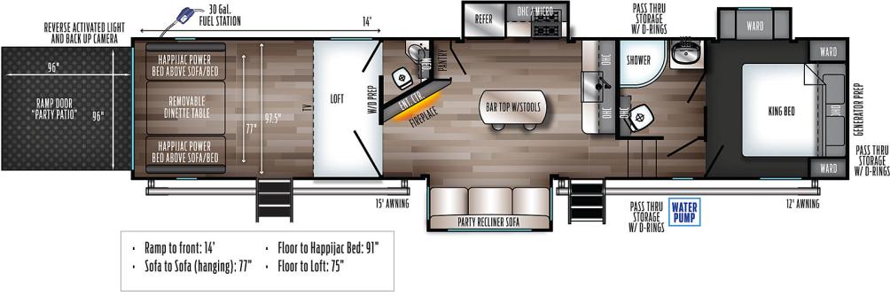 Wolf Pack 355PACK14 Floor Plan - 2021