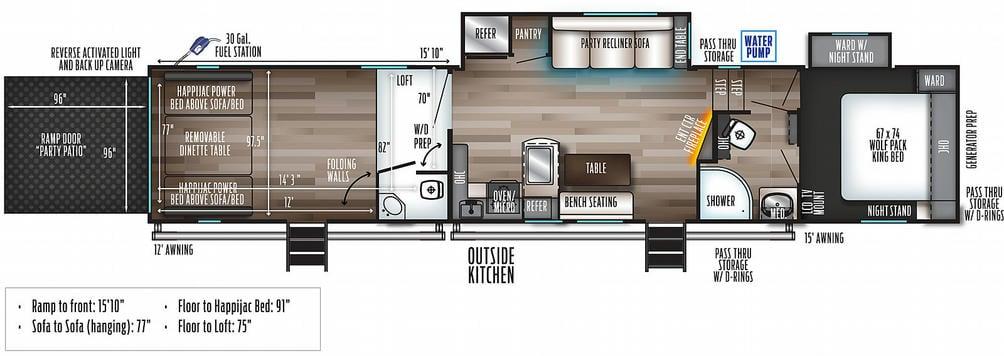 Wolf Pack 365PACK16 Floor Plan - 2021