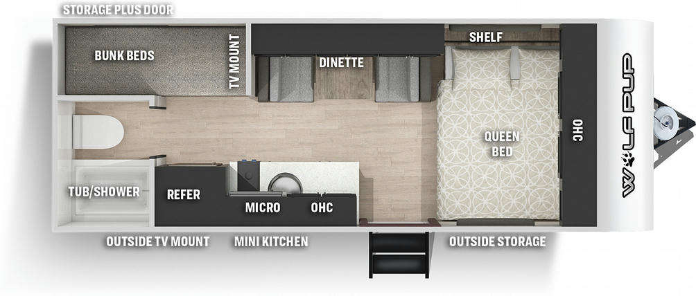 Wolf Pup 16BHSBL Black Label Floor Plan - 2021