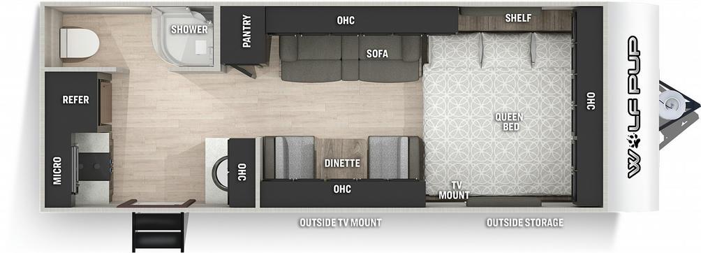 Wolf Pup 16HE Floor Plan - 2021