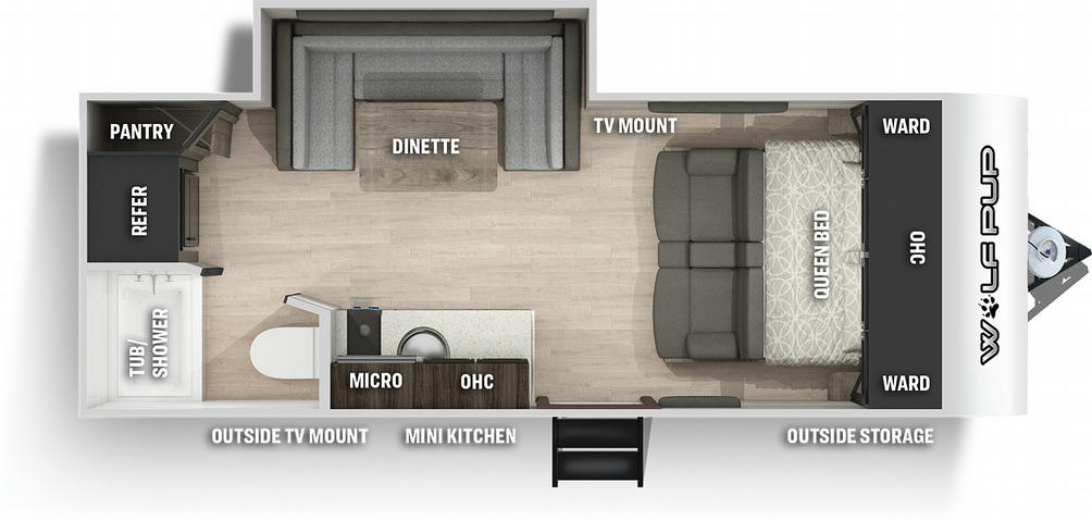 Wolf Pup 16PF Floor Plan - 2021