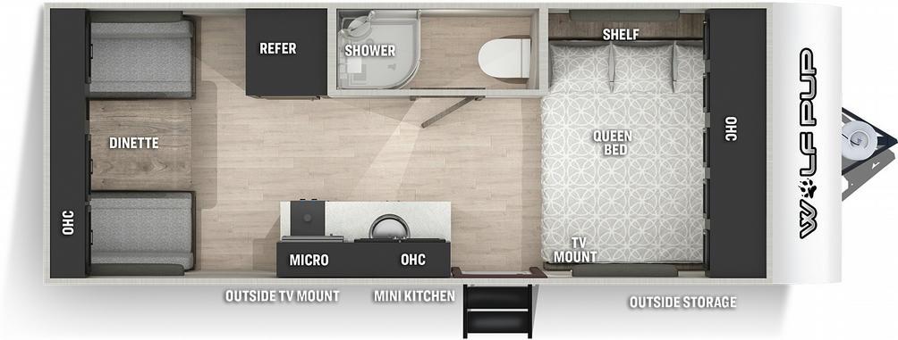 Wolf Pup 16TS Floor Plan - 2021