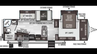 2021 Flagstaff Super Lite 29RBS - FL4218