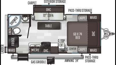 2021 Flagstaff Micro Lite 21FBRS - FL8845