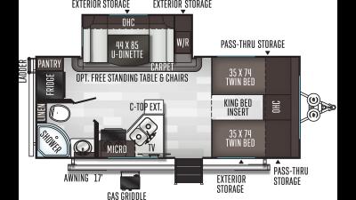 2021 Flagstaff Micro Lite 22TBS - FL3217