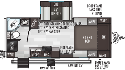 2021 Flagstaff Micro Lite 22FBS - 439223