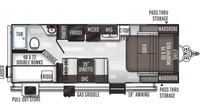 2021 Flagstaff Micro Lite 25LB - FL1228
