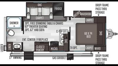 2021 Flagstaff Micro Lite 25FBLS - FL1697