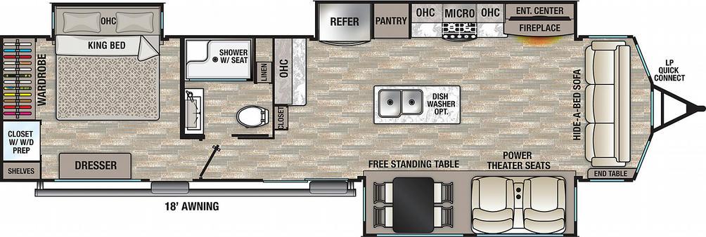 Cedar Creek Cottage 40CCK Floor Plan - 2021