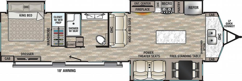 Cedar Creek Cottage 40CFK2 Floor Plan - 2021