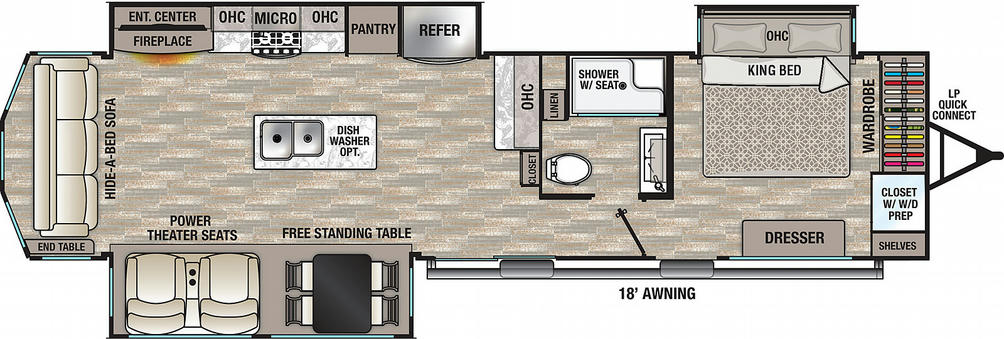Cedar Creek Cottage 40CRS Floor Plan - 2021