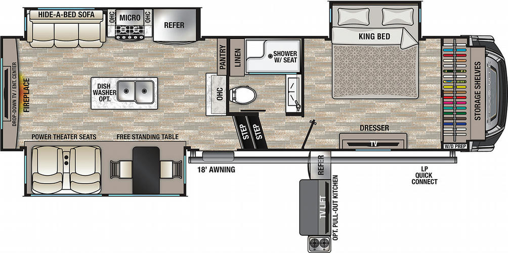 Cedar Creek 291RW Floor Plan - 2021