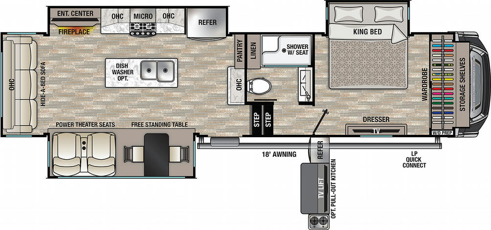 Cedar Creek 311RL Floor Plan - 2021