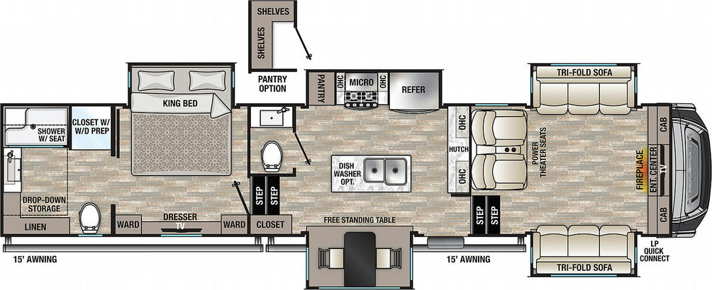 Cedar Creek 371FL Floor Plan - 2021