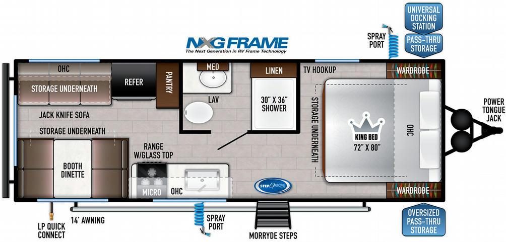 Della Terra 200RD Floor Plan - 2021