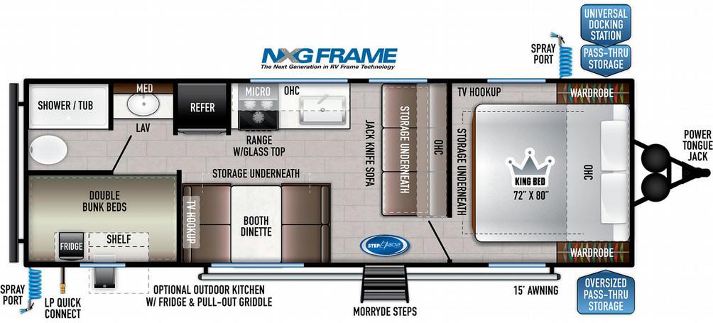 Della Terra 250BH Floor Plan - 2021