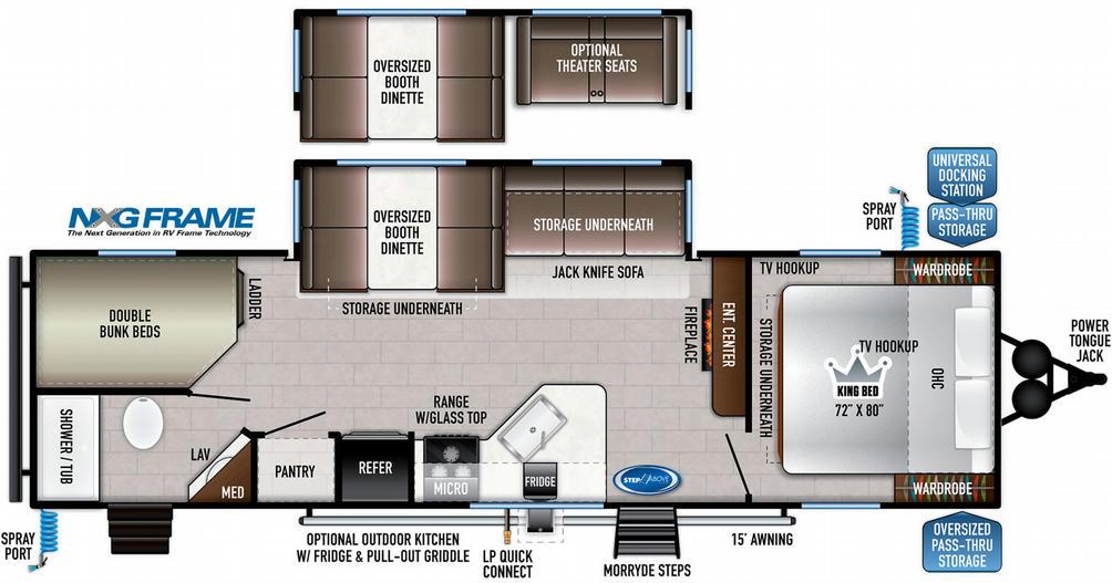 Della Terra 271BH Floor Plan - 2021