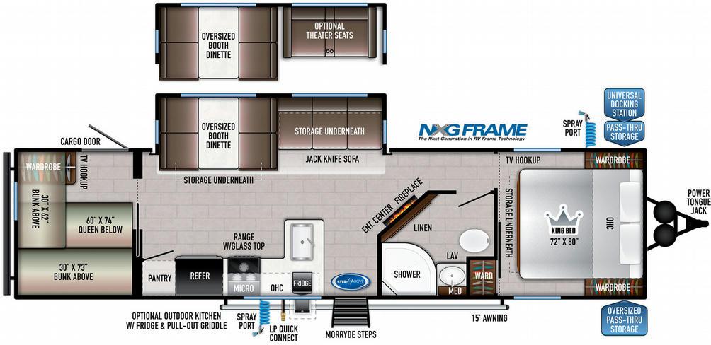 Della Terra 291BH Floor Plan - 2021