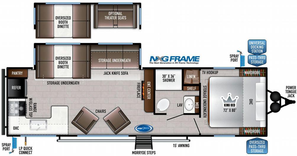 Della Terra 291RK Floor Plan - 2021