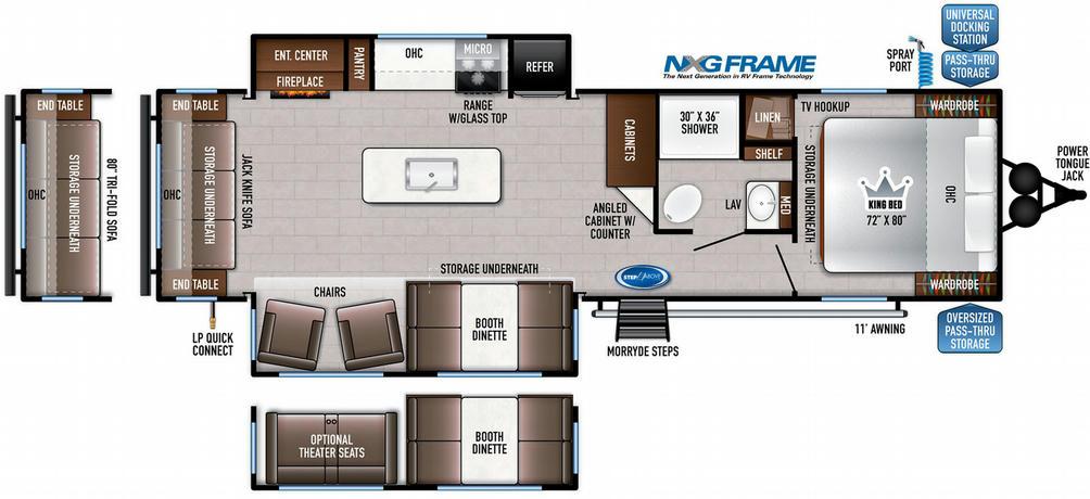Della Terra 292MK Floor Plan - 2021