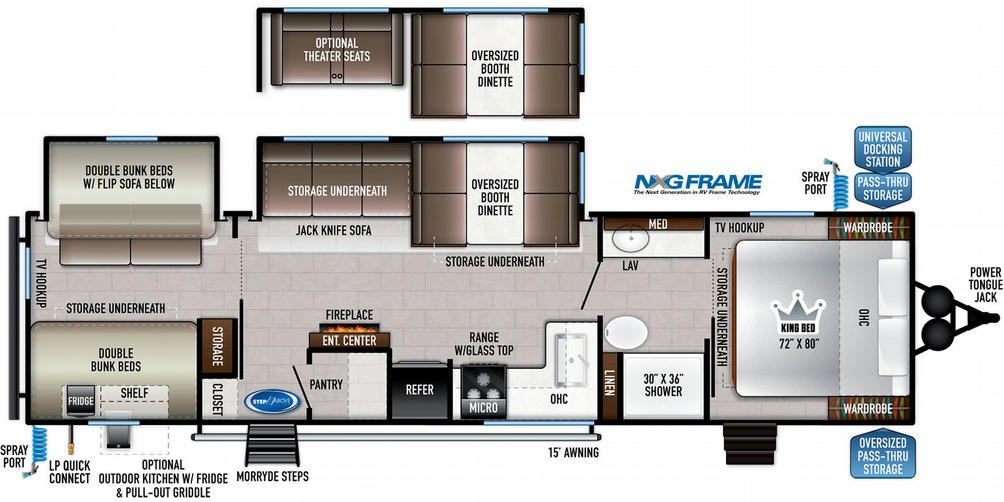 Della Terra 312BH Floor Plan - 2021
