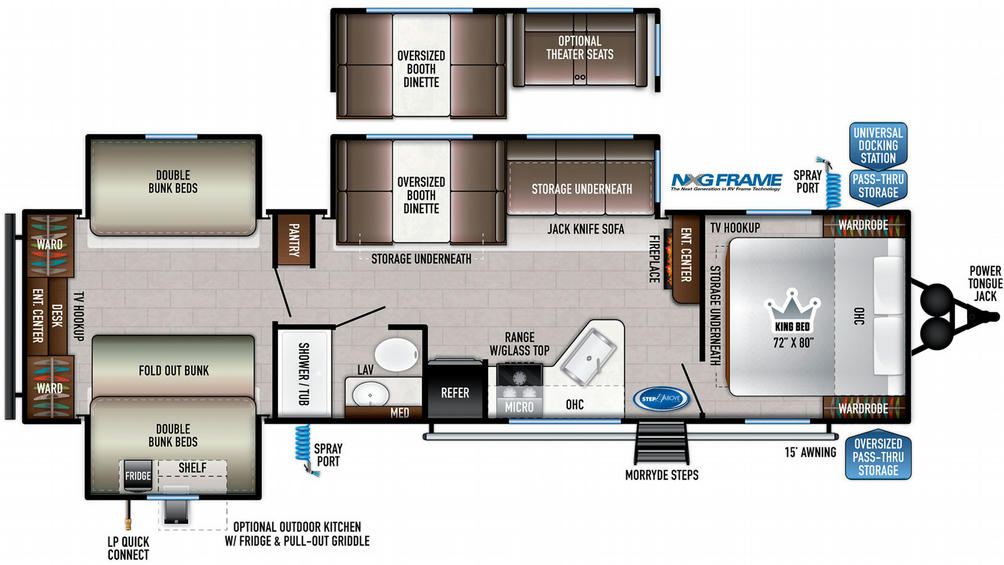 Della Terra 323QB Floor Plan - 2021