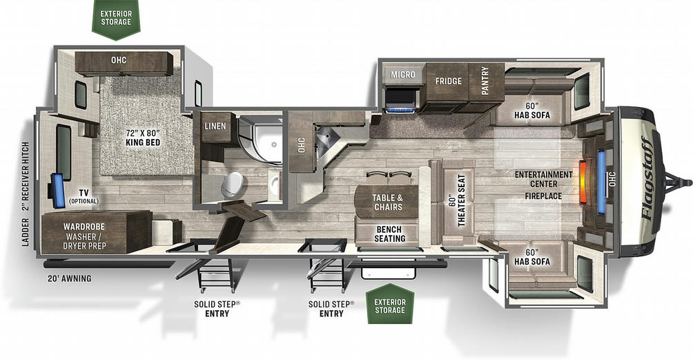 Flagstaff Classic Super Lite 832FLSB Floor Plan - 2021