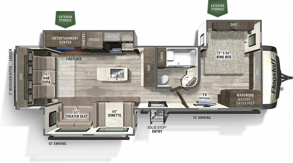 Flagstaff Classic Super Lite 832IKRL Floor Plan - 2021