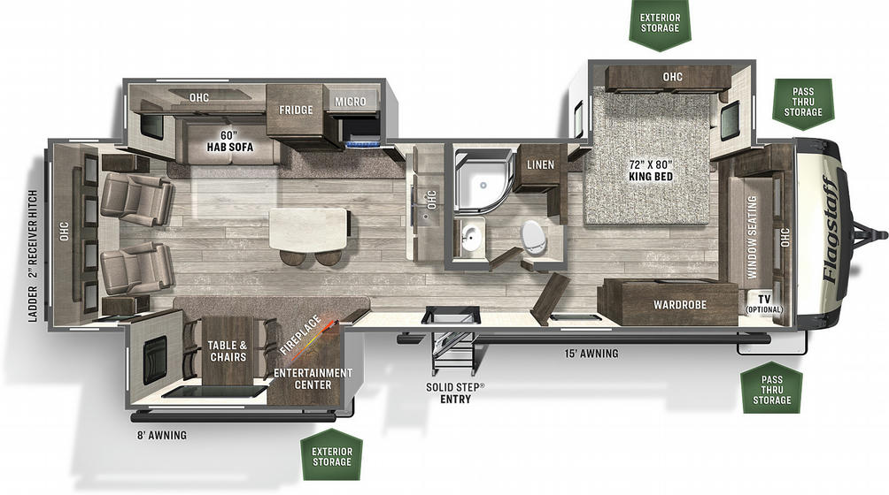 Flagstaff Classic Super Lite 832IKSB Floor Plan - 2021