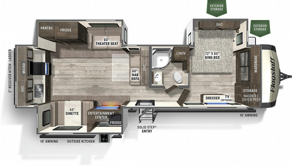 Flagstaff Classic Super Lite 832RKSB Floor Plan - 2021
