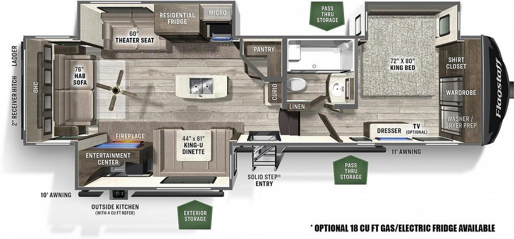 Flagstaff Classic Super Lite 8529CSB Floor Plan - 2021