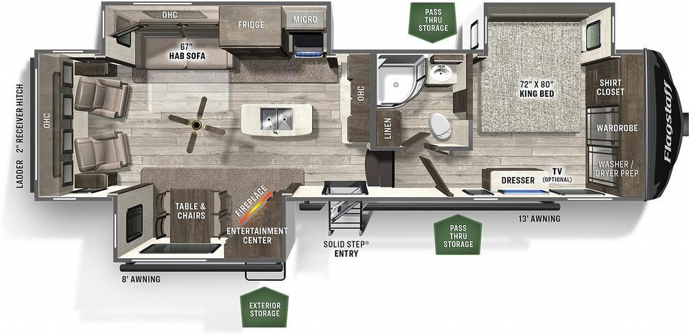 Flagstaff Classic Super Lite 8529IKSB Floor Plan - 2021