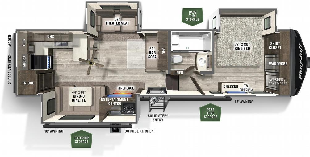 Flagstaff Classic Super Lite 8529RKSB Floor Plan - 2021